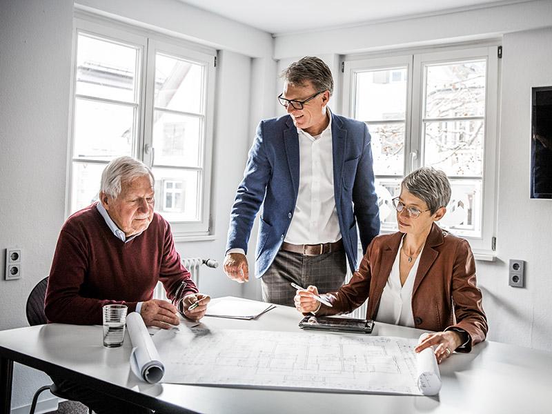 Katja, Frank und Peter Matt von matt immobilien
